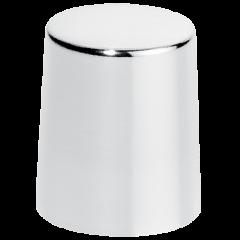 Afsluitdop glanzend zilver metaal